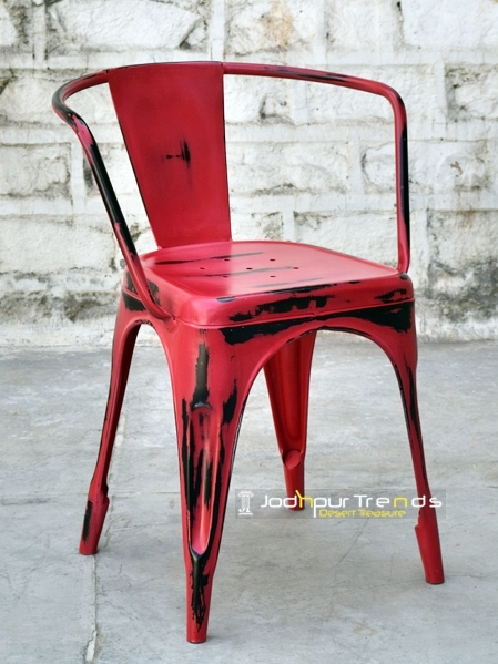 Red Tolix Chair | Cafeteria Chairs Manufacturers
