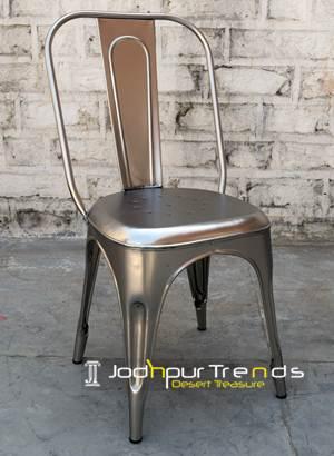 Silver Tolix Chair   Restaurant Furniture Supply