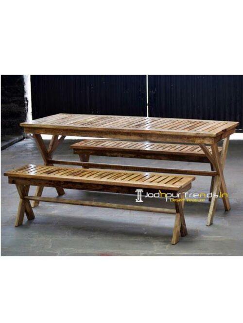 Wooden Restaurant Furniture, Wooden Table Bench Set, Fast Food Furniture Design