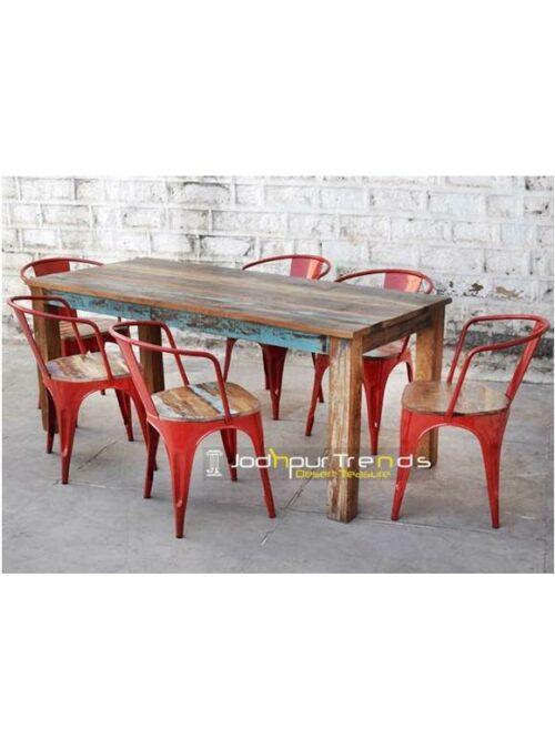 Bistro Table Set, Reclaimed Dining Set, Furniture For Restaurant India