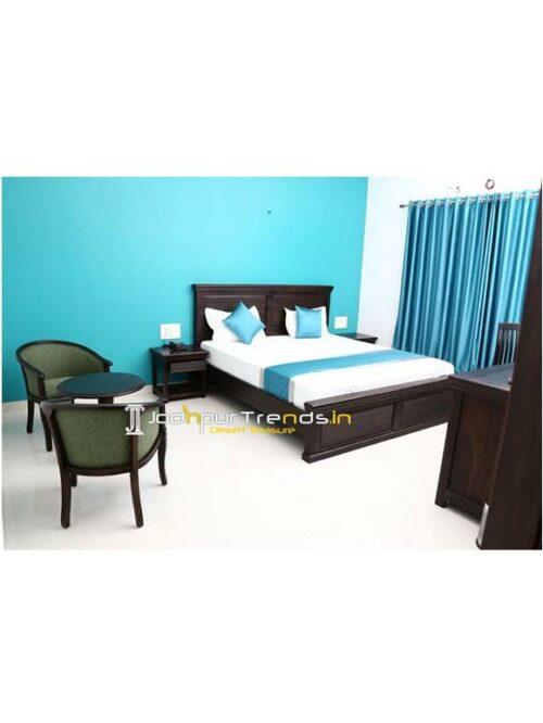 Custom Hotel Furniture Hotel Room Bed Resort Room Bed Safari Bed (2)