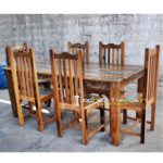 Retro Dining Set, Reclaimed Restaurant Furniture , Rustic Wood Restaurant Tables