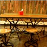 Retro Restaurant Furniture, Industrial Table Chair Set, Restaurant Outdoor Furniture
