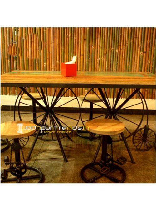 Retro Restaurant Furniture, Industrial Table Chair Set, Restaurant Outdoor Furniture