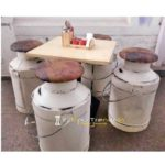 Bar Table Set Milk Cane Set Outdoor Hotel Furniture