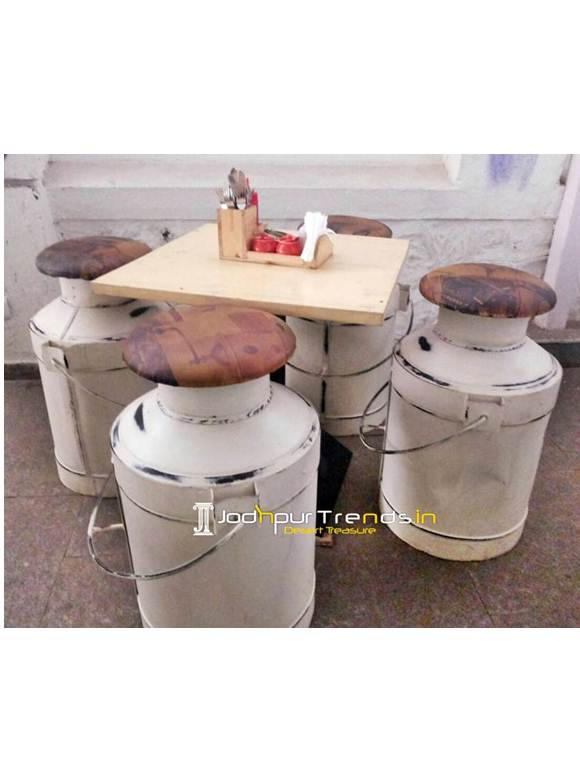 Bar Table Set Milk Cane Set Outdoor Hotel Furniture