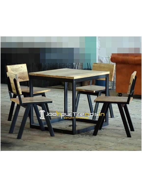 Cafe Dining Set Natural Table Set Inexpensive Restaurant Furniture