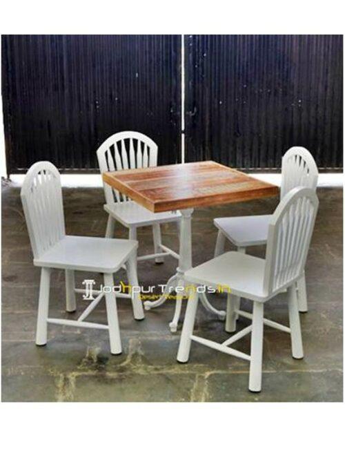 Cafe Set Wooden Restaurant Set Furniture For Coffee Shops