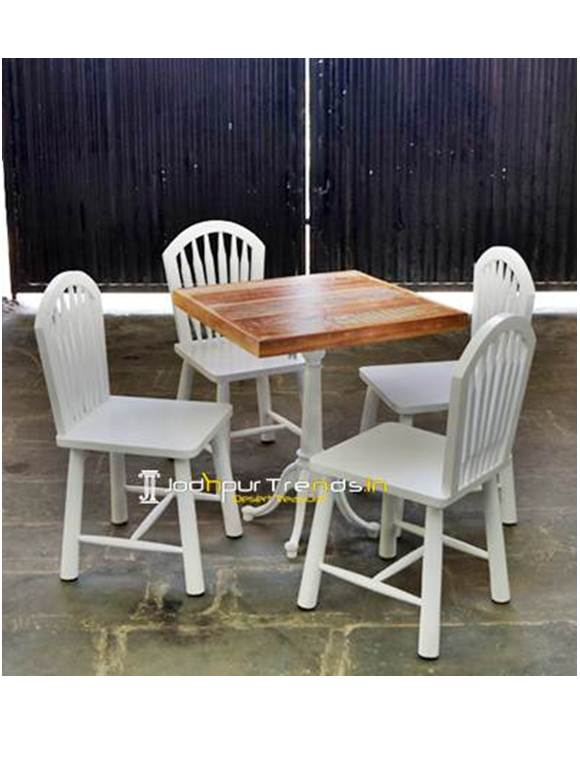 Cafe Set Wooden Restaurant Set Furniture For Coffee Shops