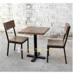Cafe Set Wooden Restaurant Set Restaurant Table Chairs Furniture (2)