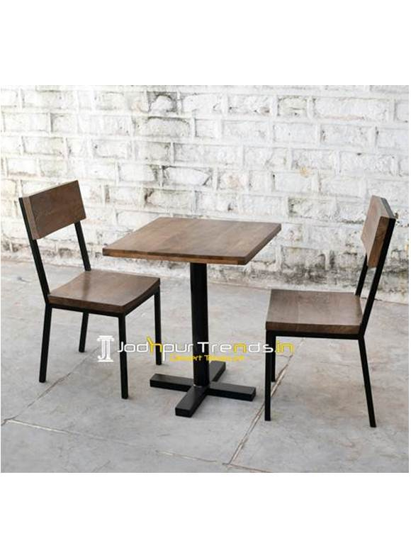 Cafe Set Wooden Restaurant Set Restaurant Table Chairs Furniture (2)