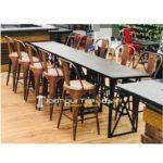 Cafeteria Furniture Cafe Casting Table Set Hotel Outdoor Furniture