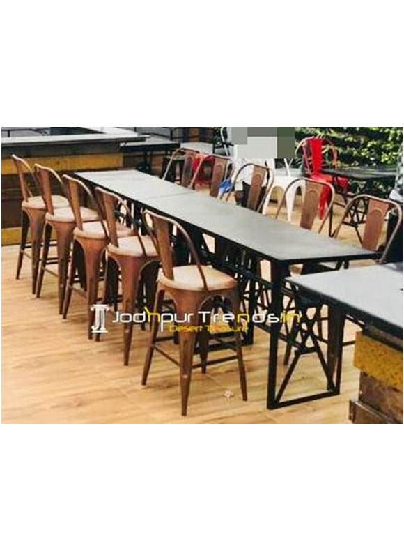 Cafeteria Furniture Cafe Casting Table Set Hotel Outdoor Furniture