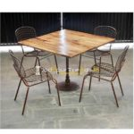 Cast Iron Dining Set Metal Dining Table Five Star Hotels Furniture