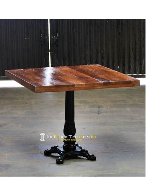 Cast Iron Square Table Hotel Restaurant Furniture