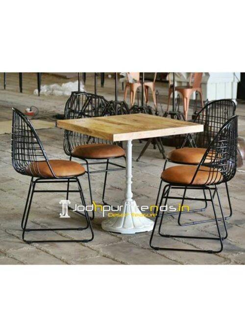 Coffee Shop Table Set Square Table Set Cafe Shop Furniture