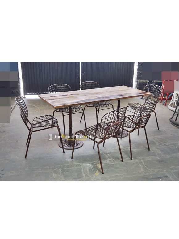 Commercial Restaurant Furniture Casting Table Set Contract Restaurant Furniture