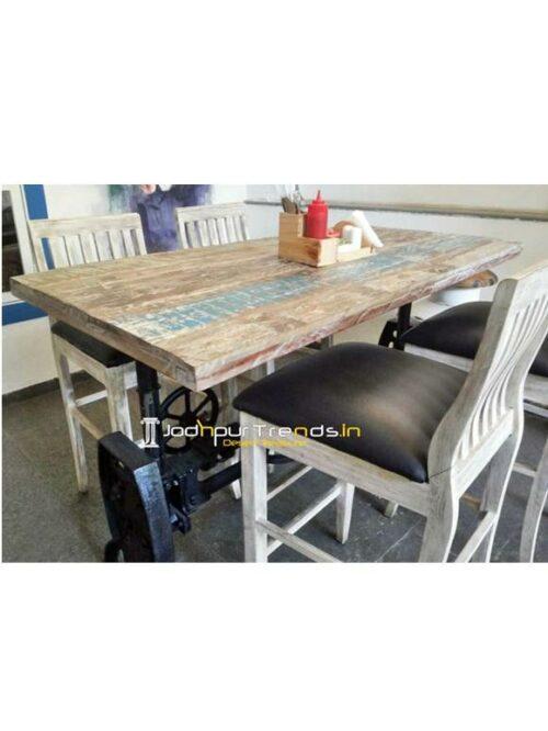 Distress Table Set High Bar Table Set Luxury Furniture Hotel