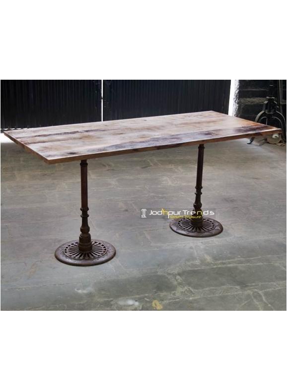 Double Leg Restaurant Table restaurant dining table
