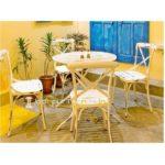 Folding Cafe Table Set Distress Metal Set Vintage Metal Furniture