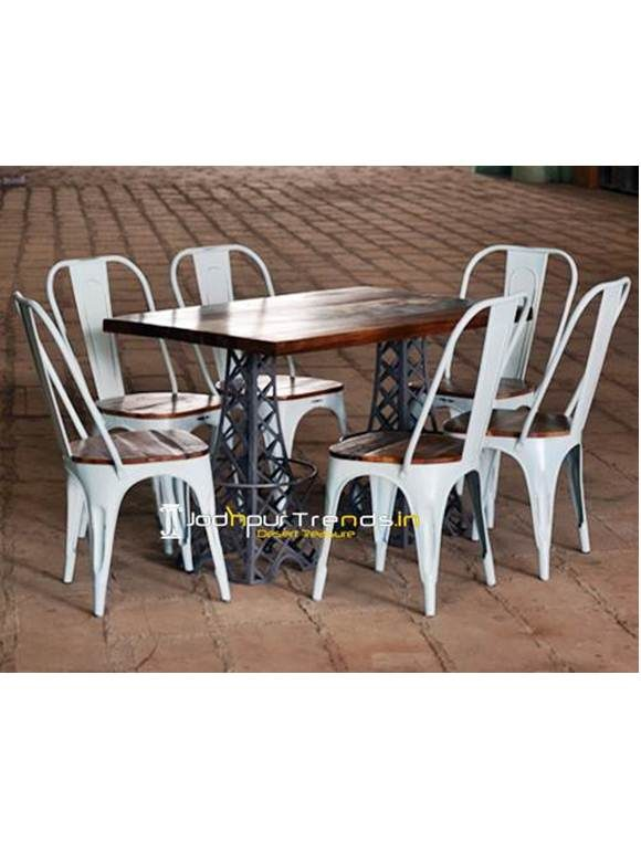 Folding Restaurant Table Set Rectangle Cafe Table Set Pizza Restaurant Furniture
