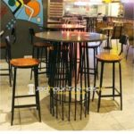 Industrial Pub Table Solid Bar Table Nightclub Furniture Wholesale