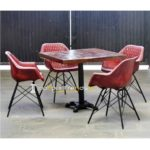Iron Chair Table Set Leather Restaurant Table Set Contract Furniture Suppliers