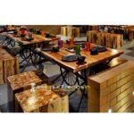 Live Edge Table Set Live Edge Furniture Cafe Lounge Furniture