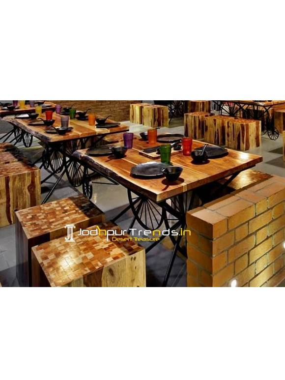 Live Edge Table Set Live Edge Furniture Cafe Lounge Furniture