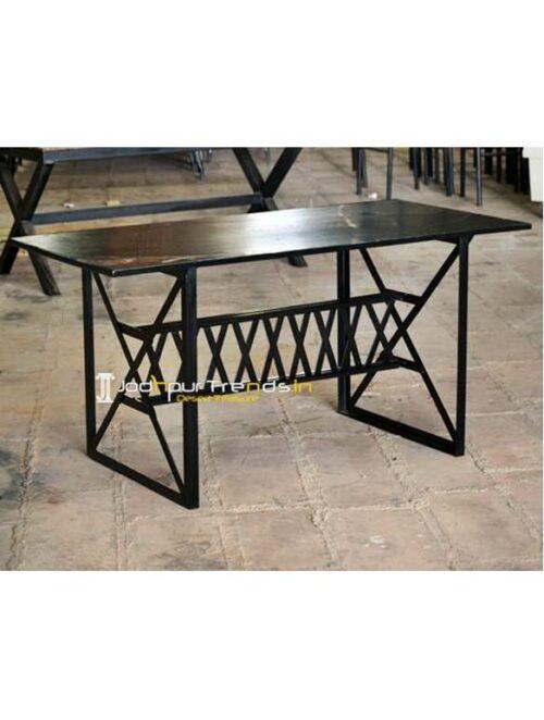 Metal Granite Restaurant Table Outdoor Table Design