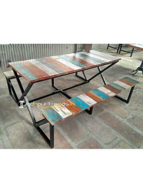 Outdoor Garden Furniture Table Bench Set Hotel Garden Furniture