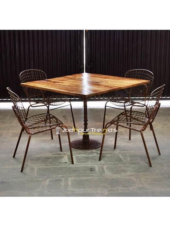 Outdoor Table Set Iron Table Set Restaurant & Bar Furniture Manali Himachal Pradesh
