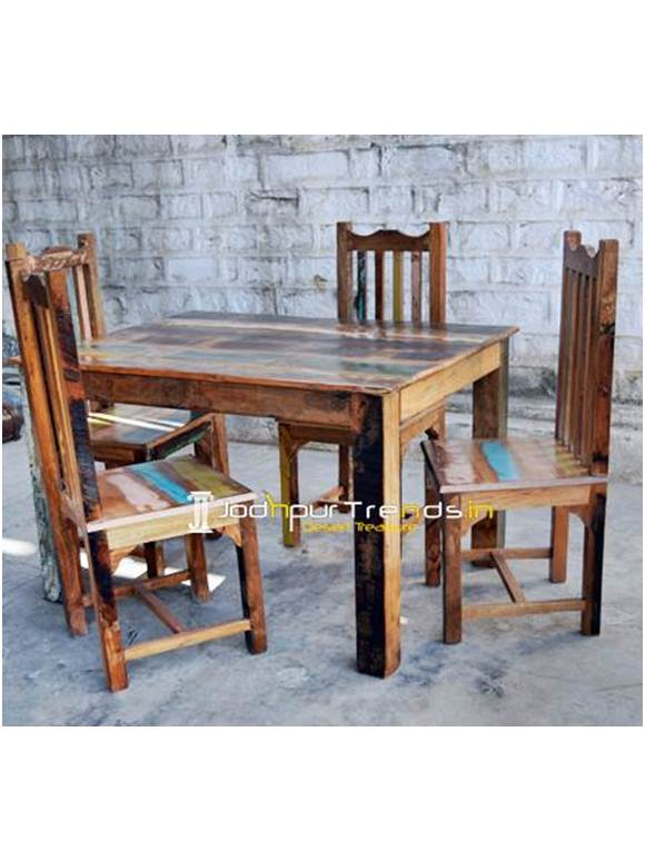 Reclaimed Table Set, Recycled Table Set, Reclaimed Wood Furniture From India