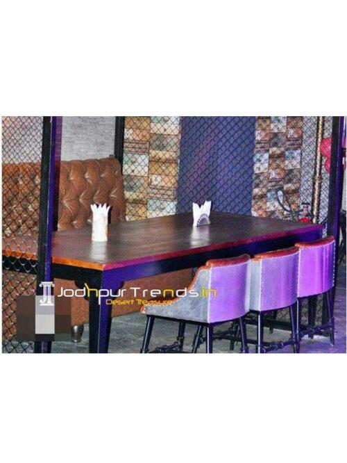 Restaurant Table Sofa Set Fine Dine Restaurant Seating