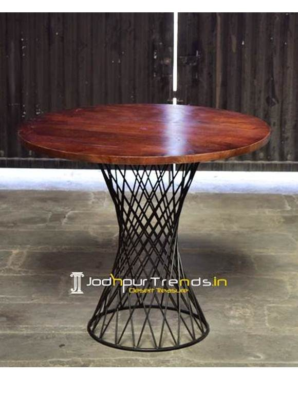 Round Cafe Table Wooden Cafe Furniture