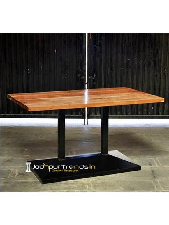 Solid Wood Fine Dine Restaurant Table Modern Restaurant Industrial Table