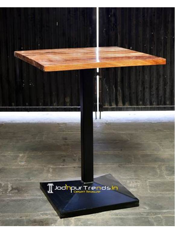 Solid Wood Modern Industrial Bar Table Modern Pub Table Design