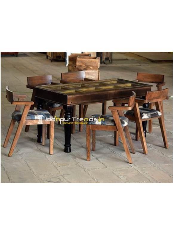 Wooden Restaurant Table Vintage Table Set Vintage Shabby Chic Furniture
