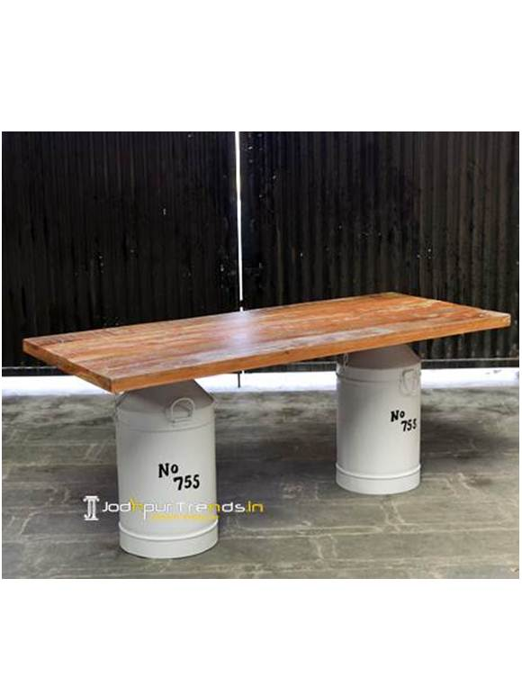 Drum Table Metal Furniture Online India