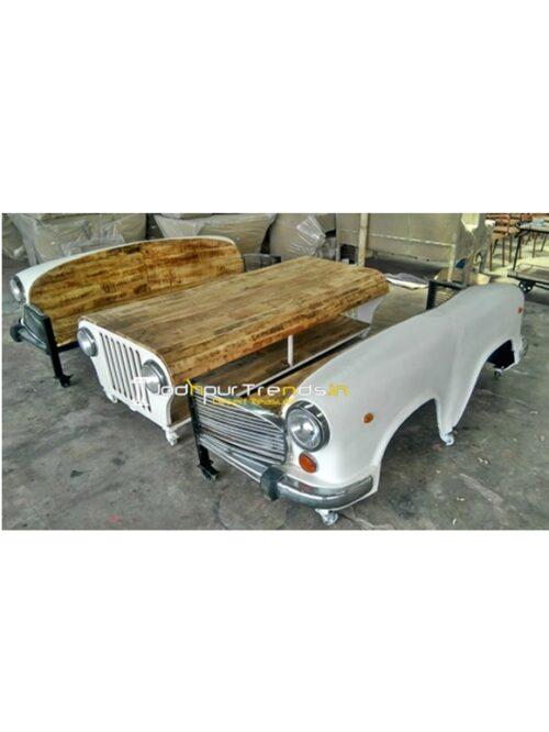 Ambassador Car Sofa Set Indian Wooden Handicrafts