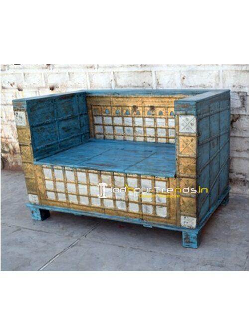 Antique Storage Sofa Bench Hotel Bedroom Furniture