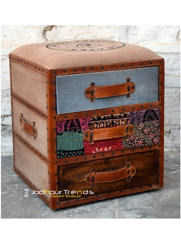 Boho Decorative Home Decor Footstool