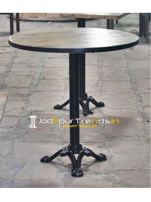 Cast Iron Mango Wood Bistro Table