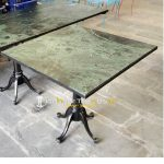 Green Granite Table Outdoor Table and Chairs