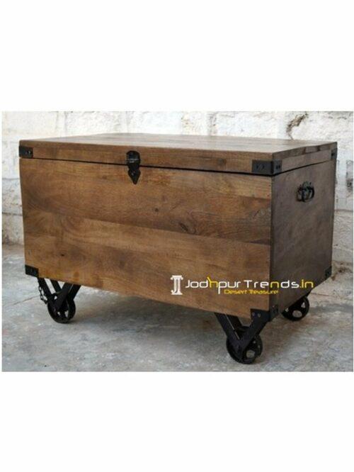 Industrial Trunk Vintage Industrial Furniture India