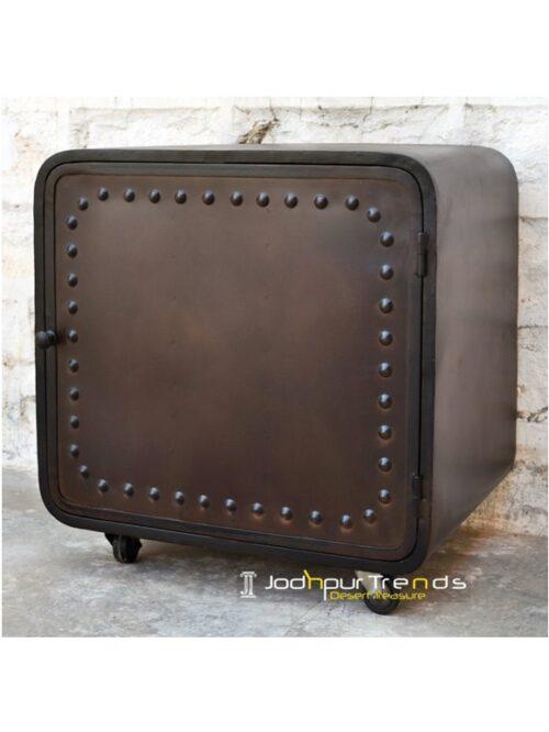 Iron Box Sidetable Iron Bedroom Furniture