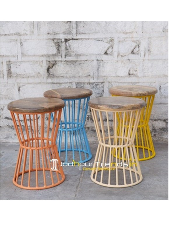 Iron Outdoor Stool Outdoor Dining Furniture