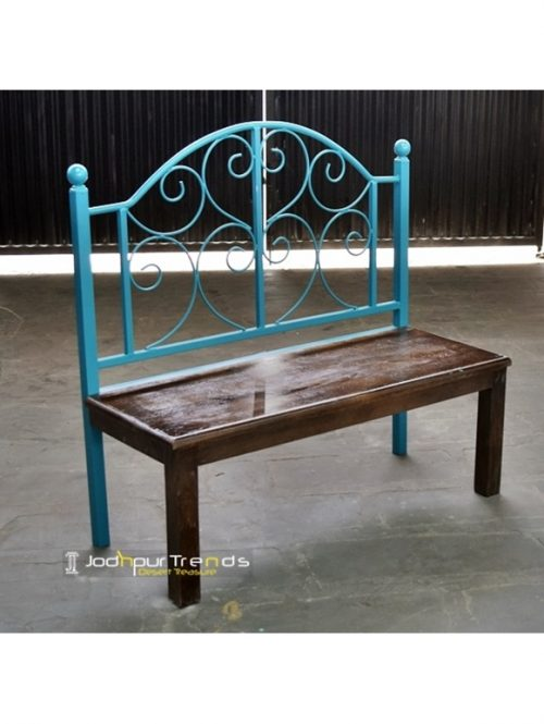 Iron Wood Bench Contemporary Furniture India