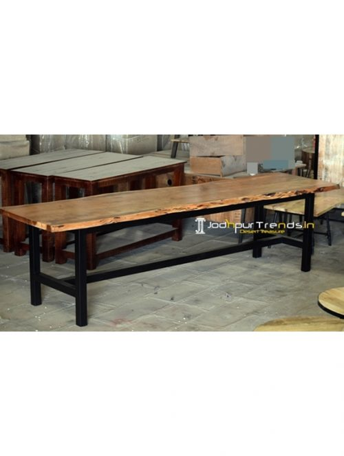 Live Edge Acacia Wood Banquet Table