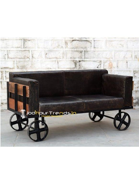 Long Metal Wooden Bench Jodhpur Wooden Furniture